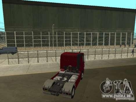 Mercedes Actros Tracteur 3241 pour GTA San Andreas sur la vue arrière gauche
