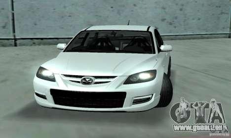 Mazda Speed 3 pour GTA San Andreas sur la vue arrière gauche