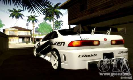 Acura Integra Type R für GTA San Andreas Rückansicht