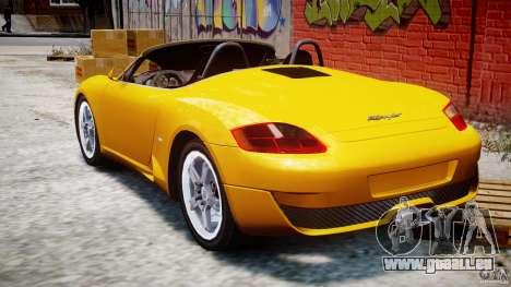 Ruf RK Spyder v0.8Beta für GTA 4 hinten links Ansicht