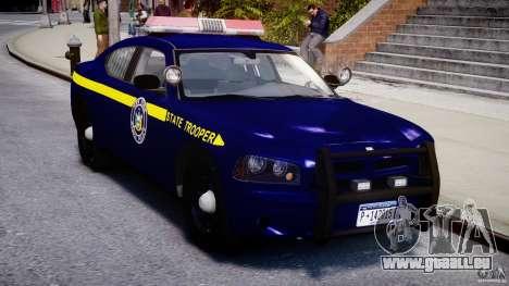 Dodge Charger NY State Trooper CHGR-V2.1M [ELS] pour GTA 4 est une vue de l'intérieur