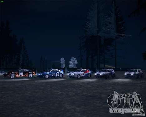Toyota Celica ST-205 GT-Four Rally pour GTA San Andreas vue intérieure