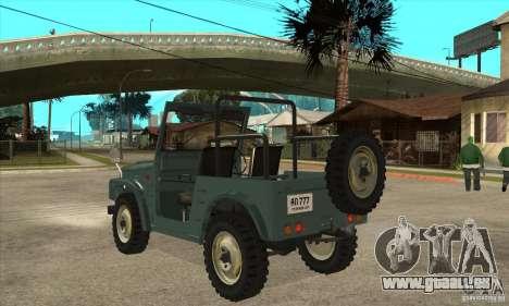 Suzuki Jimny pour GTA San Andreas sur la vue arrière gauche