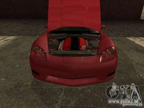 Chevrolet Corvette C6 für GTA San Andreas rechten Ansicht