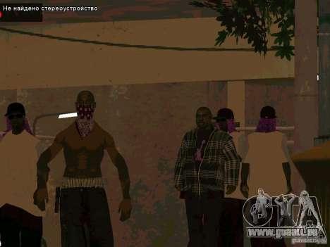Nouveau Ballas East side Purpz pour GTA San Andreas deuxième écran
