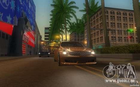 Infiniti G35 - Stock pour GTA San Andreas vue intérieure