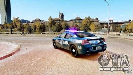 POLICIA FEDERAL MEXICO DODGE CHARGER ELS pour GTA 4 est une gauche
