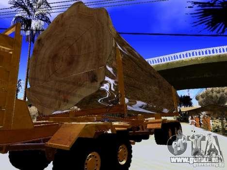 Remorque pour Hayes EQ 142 pour GTA San Andreas vue arrière