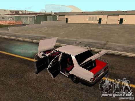Tofas Sahin DRIFT pour GTA San Andreas vue de dessous