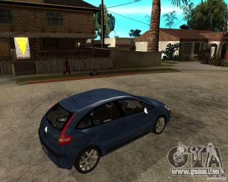 Citroen C4 SX 1.6 HDi für GTA San Andreas rechten Ansicht