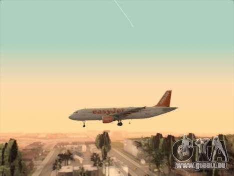 Airbus A320-214 EasyJet pour GTA San Andreas vue de côté