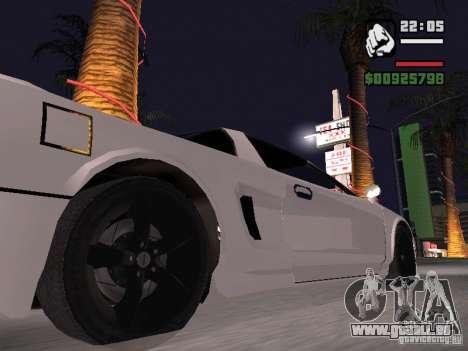 Infernus - beta - v.1 pour GTA San Andreas sur la vue arrière gauche