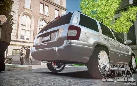 Jeep Grand Cheroke für GTA 4 Innenansicht