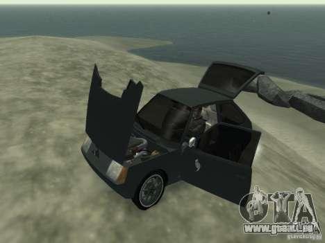 ZAZ Tavria 1102 pour GTA 4 est une vue de l'intérieur