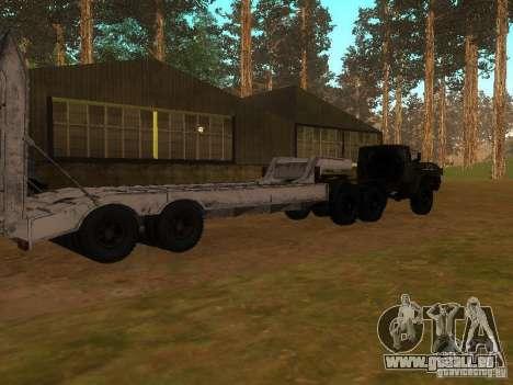 Oural-4420 tracteur pour GTA San Andreas vue intérieure