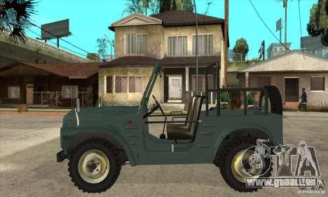 Suzuki Jimny pour GTA San Andreas laissé vue
