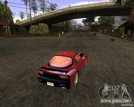 Mazda RX-7 Drifter pour GTA San Andreas sur la vue arrière gauche