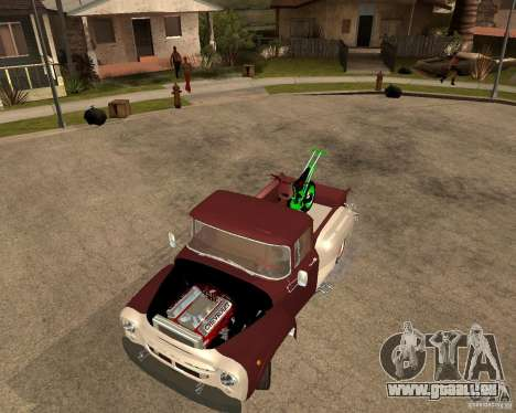 ZIL-130 feurig Tempe-Finale für GTA San Andreas Rückansicht