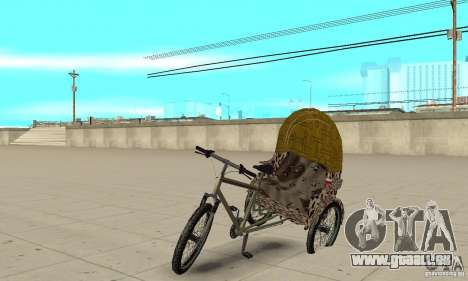 Manual Rickshaw v2 Skin4 pour GTA San Andreas