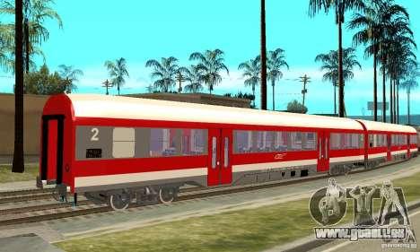 Wagen 21-31 CFR für GTA San Andreas zurück linke Ansicht