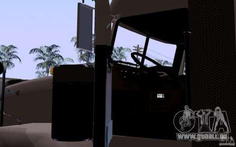 Freightliner SD 120 pour GTA San Andreas vue intérieure