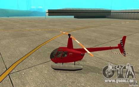 Robinson R44 Clipper II 1.0 pour GTA San Andreas sur la vue arrière gauche