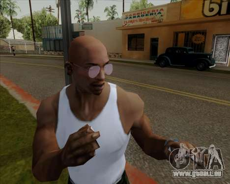 Rose Lunettes aviateur pour GTA San Andreas cinquième écran
