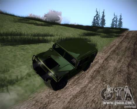 Hummer H1 Alpha pour GTA San Andreas vue de droite