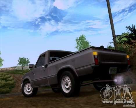 Toyota Truck RN30 pour GTA San Andreas sur la vue arrière gauche