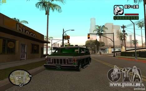Grove Street Gang Burrito pour GTA San Andreas laissé vue