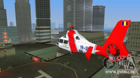 Eurocopter As-365N Dauphin II für GTA Vice City Rückansicht