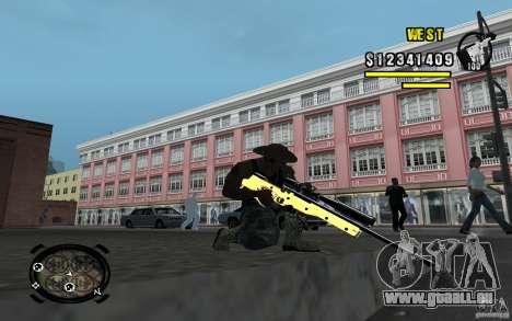 Gold Weapon Pack v 2.1 für GTA San Andreas fünften Screenshot