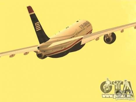 Airbus A330-300 US Airways für GTA San Andreas Innenansicht