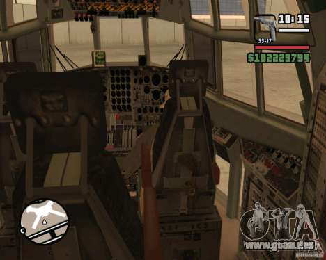 C-130 hercules für GTA San Andreas Innen