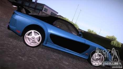 Mazda RX-7 Veilside v3 pour GTA San Andreas sur la vue arrière gauche