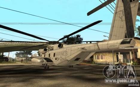 CH 53E für GTA San Andreas zurück linke Ansicht