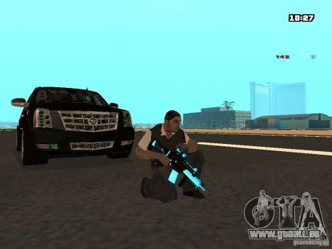 Black & Blue guns für GTA San Andreas dritten Screenshot