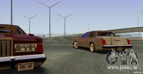 Virgo Continental pour GTA San Andreas vue intérieure