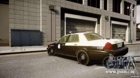 Ford Crown Victoria Fl Highway Patrol Units ELS pour GTA 4 Vue arrière de la gauche