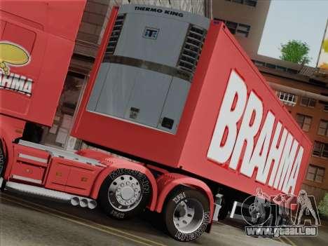 Trailer für Scania R620 Brahma für GTA San Andreas Seitenansicht