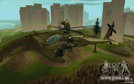Apache AH64D Longbow pour GTA San Andreas vue de dessus