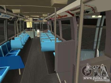 GMC RTS MTA New York City Bus pour GTA San Andreas vue intérieure