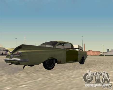 Chevrolet Biscayne 1959 pour GTA San Andreas vue arrière