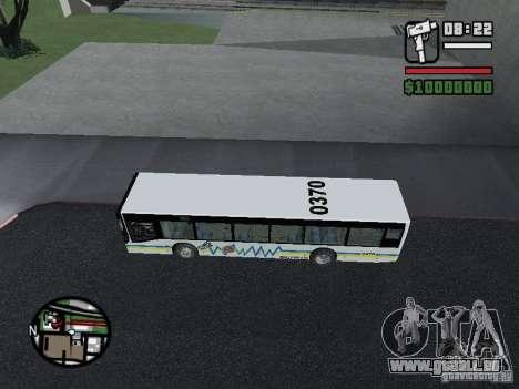 Onibus pour GTA San Andreas sur la vue arrière gauche
