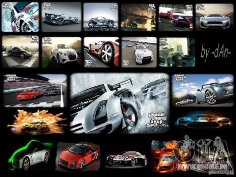 Coole Auto-neue Laden-Bildschirme für GTA San Andreas