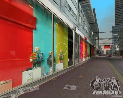 New Downtown: Shops and Buildings für GTA Vice City zweiten Screenshot