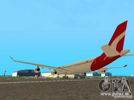 Airbus A340-300 Qantas Airlines für GTA San Andreas rechten Ansicht