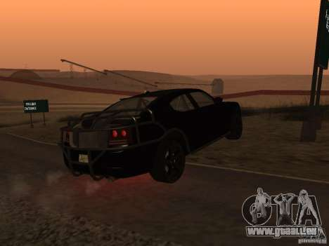 Dodge Charger Fast Five pour GTA San Andreas vue de droite