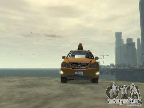 Lexus RX400 New York Taxi pour GTA 4 est un côté