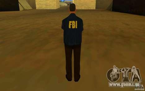 HQ skin FBI pour GTA San Andreas quatrième écran